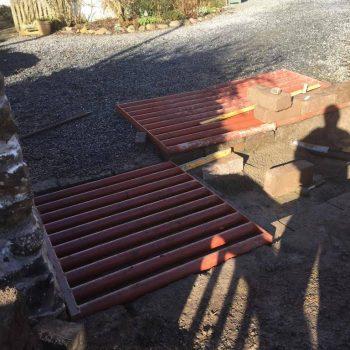 TJB Landscaping installing a cattle grid